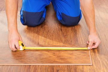 Close-up photo of measuring wood block