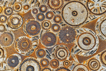 Background  pattern with cogs and gears.