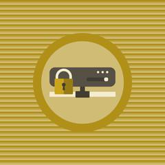 Server security flat icon