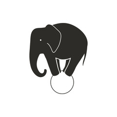 Vector Illustration of a Circus Elephant