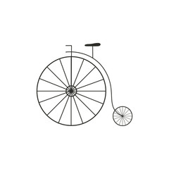 Vector Illustration of a Retro Big Wheel Bycicle