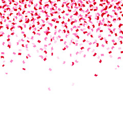 Vector Illustration of a Background with Pink Confetti