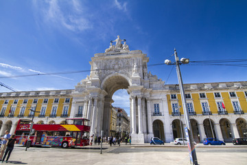 famous arch of the Augusta street located in Lisbon