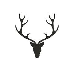 Vector Illustration of a Deer Head
