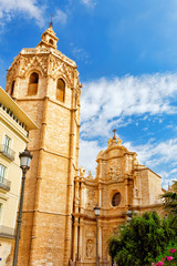 Valencia  cathedral temple in old town.Spain , Catalonia.