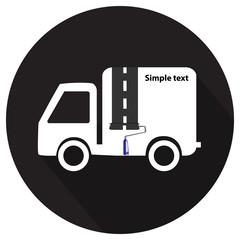 Car advertising text input