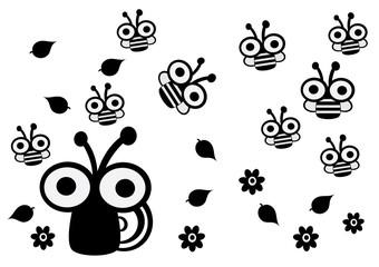 ślimak,pszczoły,wiosna