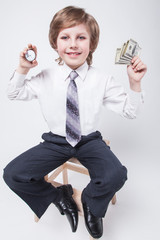 Time is money, a successful businessman, planning