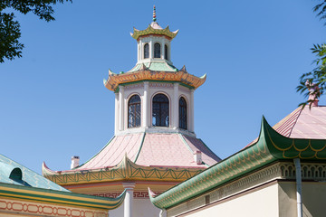 Roof of Chinese village in Tsarskoe Selo (Pushkin), Russia
