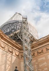PARIS - JULY 21, 2014: Exterior view of Pantheon building in cit