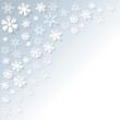 Schneeflocken Hintergrund oben links KALT