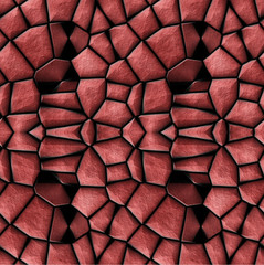 Abstract texture with red stones