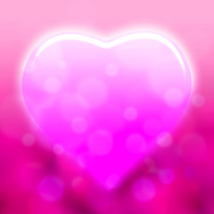 sweet heart with pink bokeh light backgrund