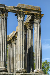 Temple of Diana monument, located in Evora