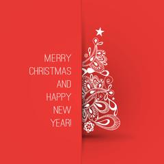 Christmas Greeting Card Design Template