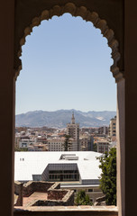 Вид на Малагу из крепости Хибральфаро.