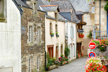 Beautiful medieval town in Brittany.