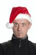 Weihnachtsmann macht Grimassen
