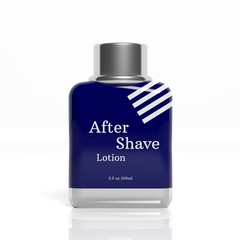 3D After Shave bottle isolated on white background