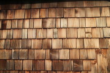 geflammte Holzschindeln