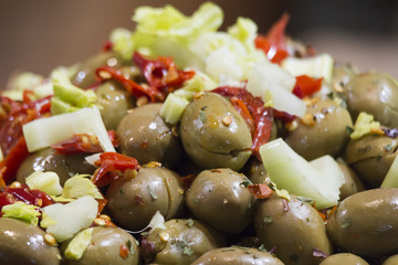 olives on stand