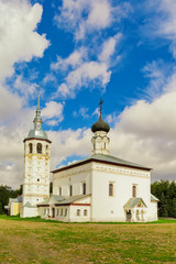 Suzdal, Russia, Voskresenskaya church in summer