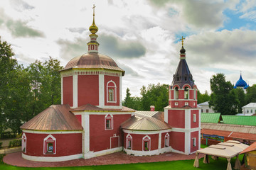 Suzdal, Russia, Uspenskaya church in summer