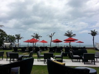 relaxing beach bar