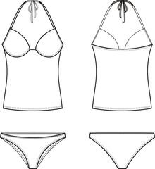 Vector illustration of women's swimsuit