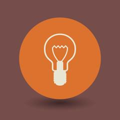 Light bulb symbol, vector