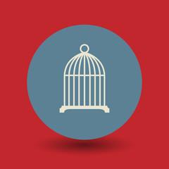 Birdcage symbol, vector