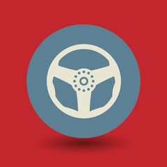 Steering Wheel symbol, vector