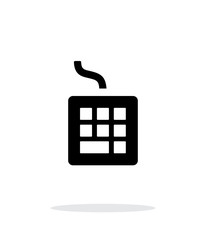 Wired keyboard icon on white background.