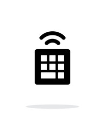 Wireless small keyboard icon on white background.