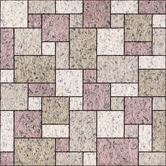 Paper rectangular tile stacked for seamless background
