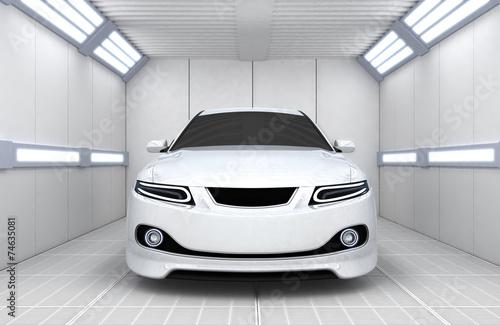 Car in garage - 74635081