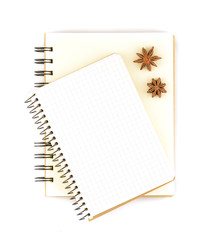 Blank notepad for copy space