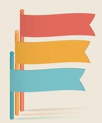 infographics-flags-presentation-template-vintage