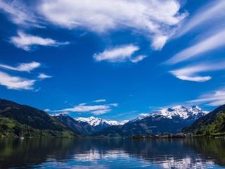 Alpen Hohe Tauern am Zeller See in Österreich