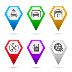set-icons-car-repair-service-car-wash-sign-pointer
