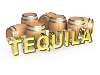 Tequila with wood cask