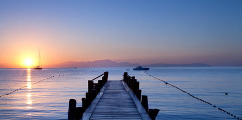 italienischer Morgen am Meer
