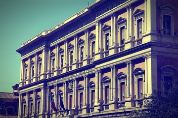 Ministry of Agriculture, Rome. Cross processed color tone.