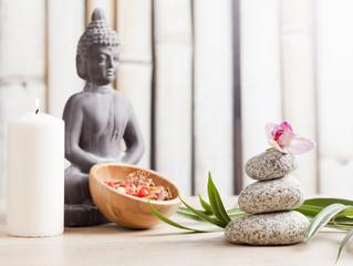 Buddha in meditation, spa concept