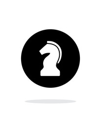 Chess Knight simple icon on white background.