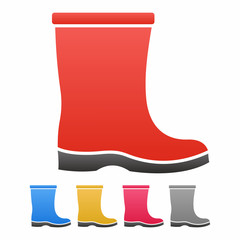 Boot icon set