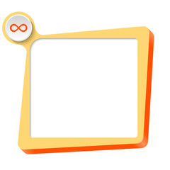 vector text box for any text and infinity symbol
