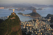 Quadro Aerial view of Christ, Sugarloaf, Guanabara Bay, Rio de Janeiro