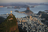 Fototapety Aerial view of Christ, Sugarloaf, Guanabara Bay, Rio de Janeiro