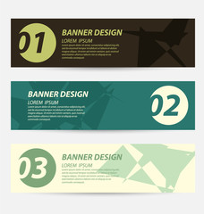 Design template banners set